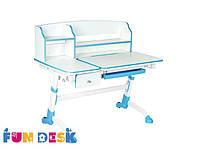 Детский стол-трансформер FunDesk  Amare II with drawer Blue +лампа L2