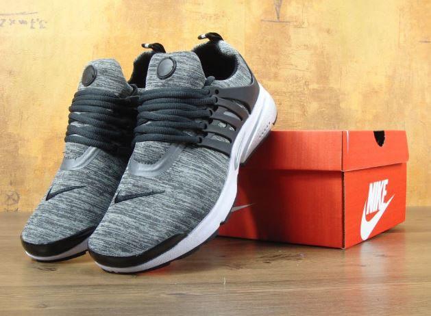 Кроссовки Nike Air Presto BR QS black/grey. Живое фото. Топ качество! (Реплика ААА+)