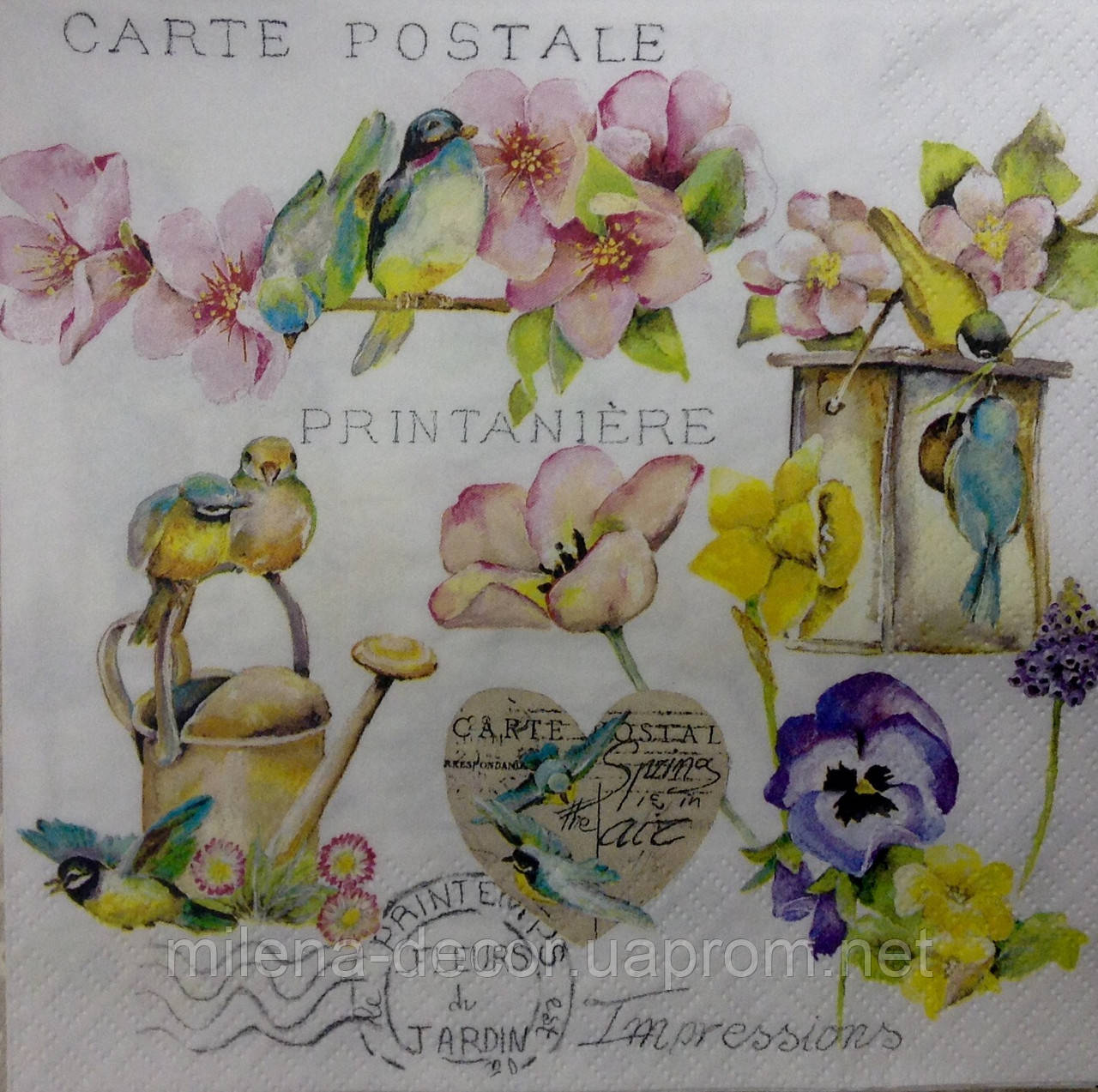 Салфетка для декупажа цветы