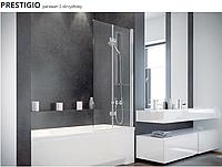 Шторка для ванн PRESTIGIO 80x150 BESCO двухстворчатая