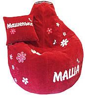 Бескаркасное кресло мешок груша пуф РОМАШКА