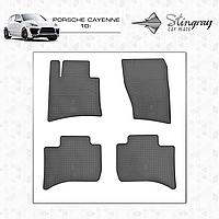 Коврики резиновые в салон Porsche Cayenne с 2010 (4шт) Stingray