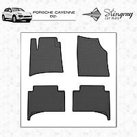 Коврики резиновые в салон Porsche Cayenne с 2002 (4шт) Stingray