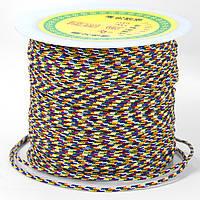 Шнур Нейлоновый Плетеный, Цвет: Разноцветный, Размер: Диаметр 1.5мм, около 100м/катушка, (УТ100005594)