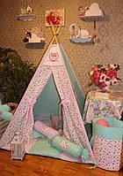 """Детский игровой домик, вигвам, палатка, шатер, шалаш """"Нежность"""""""