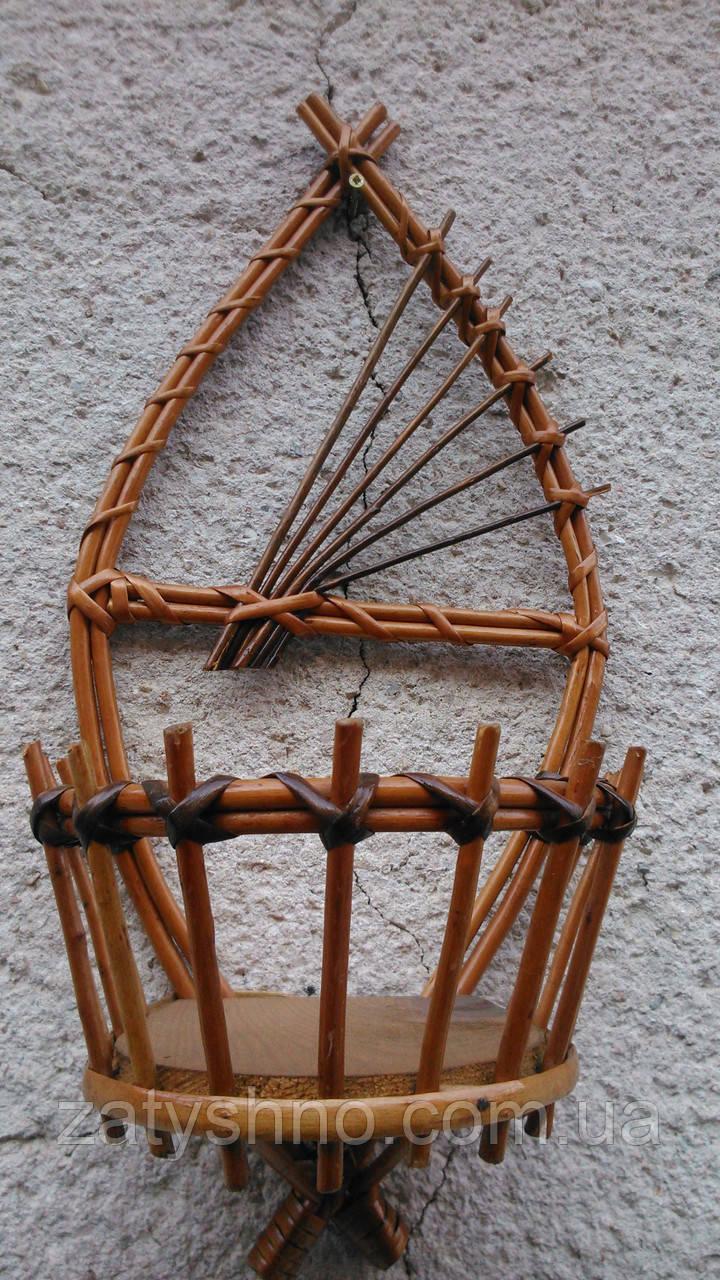Подставка плетеная для растений
