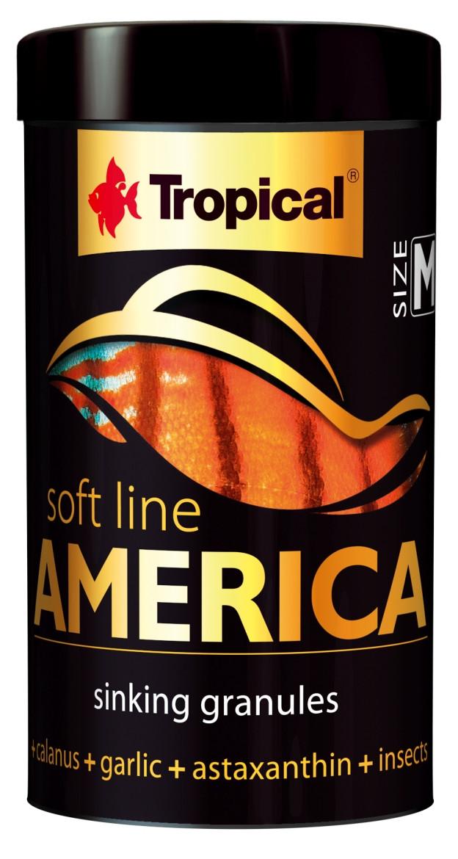Tropical Soft Line America  M 250ml/150g-корм для всеядных  рыб (67424)