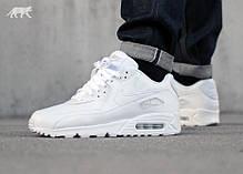 Мужские кроссовки Nike Air Max 90 белые топ реплика, фото 3
