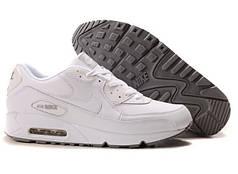 Мужские кроссовки Nike Air Max 90 белые топ реплика