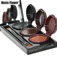 Водостойкая гелевая подводка для глаз и бровей (3 цвета) Music Flower 24h Eyebrow&Eyeliner gel long-wear