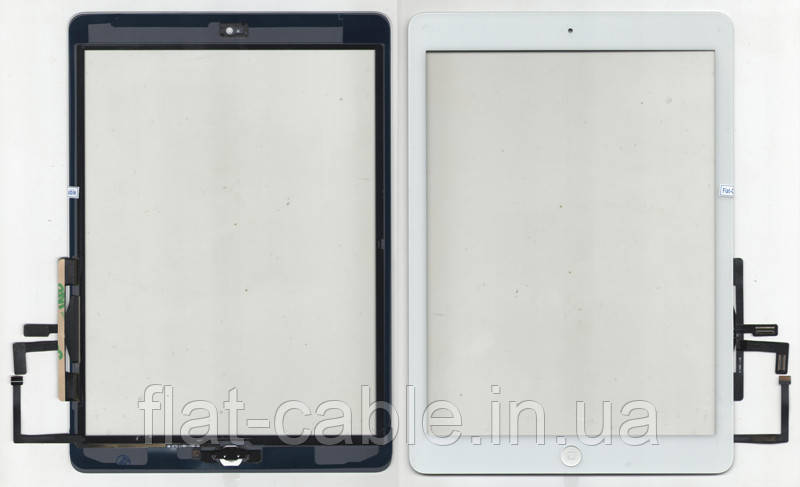 Тачскрин (сенсор) iPad Air белый (White) assembly with home button