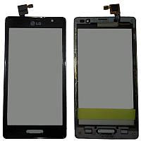 Сенсор LG P765 Optimus L9 чёрный с передней частью корпуса