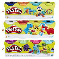 Набор пластилина 4 баночки Play-Doh