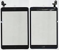 Тачскрин (сенсор) iPad Mini чёрный assembly with home button