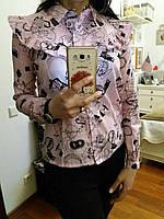 Женская рубашечка (хлопок), S,M,L р-ры, 240/210 (цена за 1 шт. + 30 гр.)