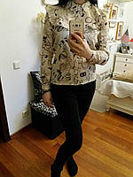 Молодежная блузка из хлопка, S,M,L р-ры, 240/210 (цена за 1 шт. + 30 гр.)
