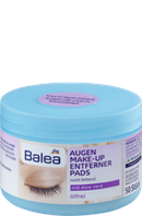 Подушечки для снятия макияжа с глаз Balea Augen Make-up Entferner Pads ölfrei, 50 St