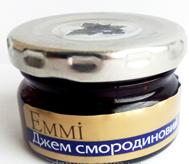 Джем порциональный черная смородина, 30 гр