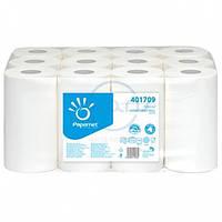 Полотенца рулонные, белые, 2-слойные, целлюлоза, вытяжные, ESTETIC, 163 лист., 60м