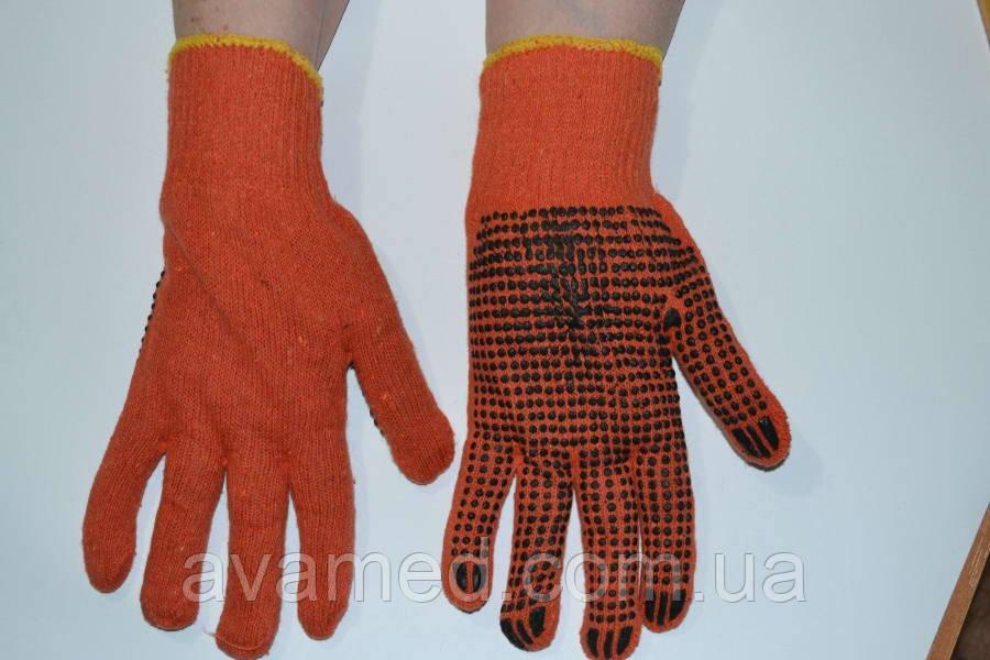 Перчатки хлопчатобумажные 2 сорт (Оранжевый) х/б