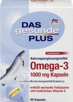Биологически активная добавка Omega - 3 1000mg Das gesunde Plus 60 шт