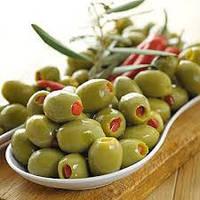 Зеленые оливки фаршированные перцем 100 гр