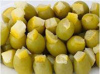 Зеленые оливки фаршированные лимоном 100 гр