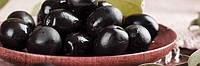 Черные оливки (маслины) с чесноком 100 гр