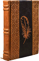 Ежедневник Damask переплет ручной работы Сертификат. Бархатный чехол 184 стр 145х215х32мм