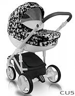 Детская универсальная коляска BEXA CUBE OPT-S-QS7345-1 (Алюминиевая рама делает конструкцию легкой и маневренной,гелевые колеса со специальной