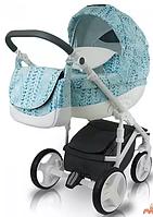 Детская универсальная коляска BEXA CUBE OPT-S-QS7345-2 (Алюминиевая рама делает конструкцию легкой и маневренной,гелевые колеса со специальной