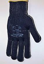 Перчатки рабочие Синтетика (Синие) без ПВХ точек