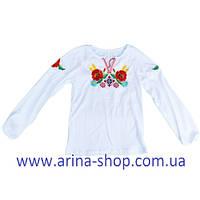 Вышиванка длинный рукав девочка 60-64-68-72-76