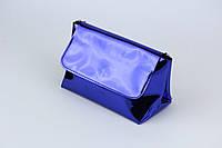 Синяя лаковая сумка,кроссбоди