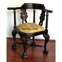 Стильный стул с мягкой обивкой, угловой