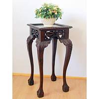 Столик (подставка) для цветов с элементами ручной резьбы
