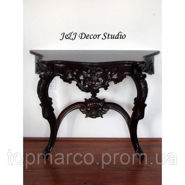 Стильный пристенный столик (консоль) резьбленный 2