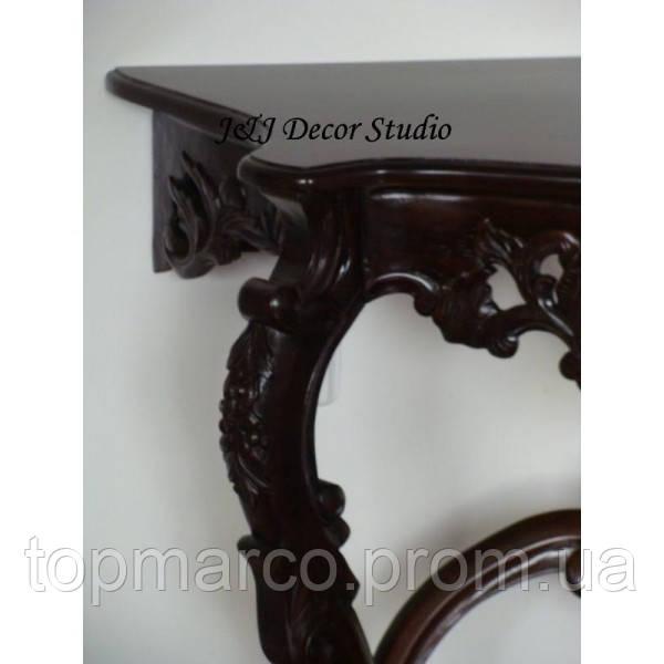 Стильный пристенный столик (консоль) резьбленный 5