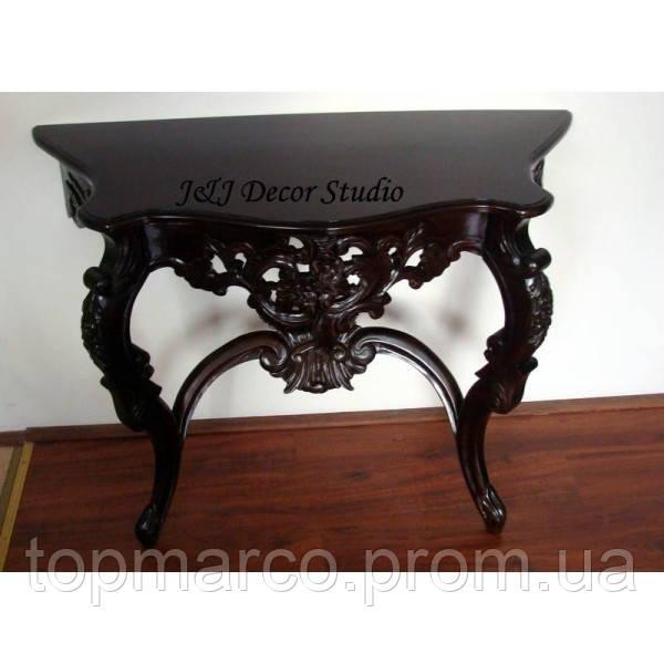 Стильный пристенный столик (консоль) резьбленный 6