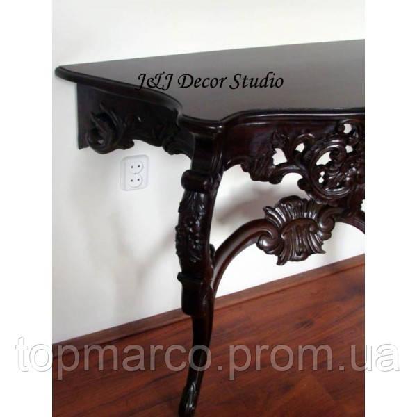 Стильный пристенный столик (консоль) резьбленный 8