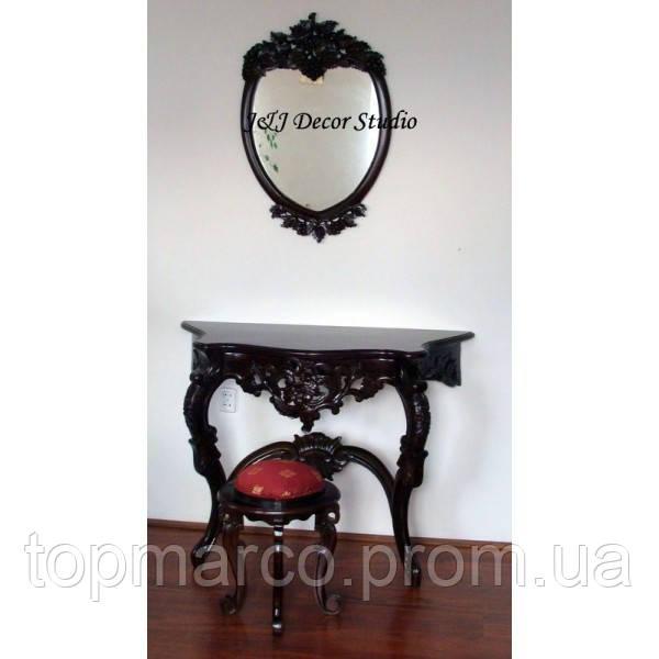Стильный пристенный столик (консоль) резьбленный 9