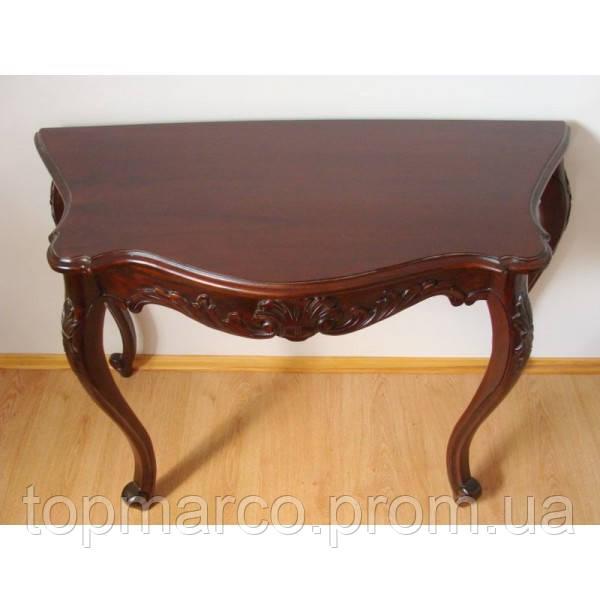 Стильный пристенный столик (консоль) резьбленный 3