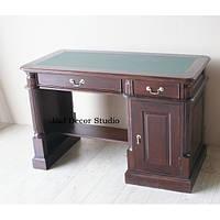 Стильный офисный стол из красного дерева, ручной роботи 120 см