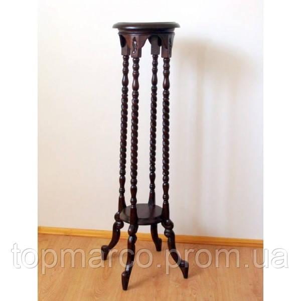 Столик (подставка) для цветов с элементами ручной резьбы 5