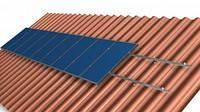 Система крепления на 25 солнечных модулей Н525 для наклонной крыши