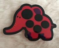 Термометр - наклейка   на лоб для непрерывного измерения температуры  Слон красный