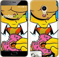 """Чехол на Meizu M5 Гомер с пончиком """"3827u-420"""""""