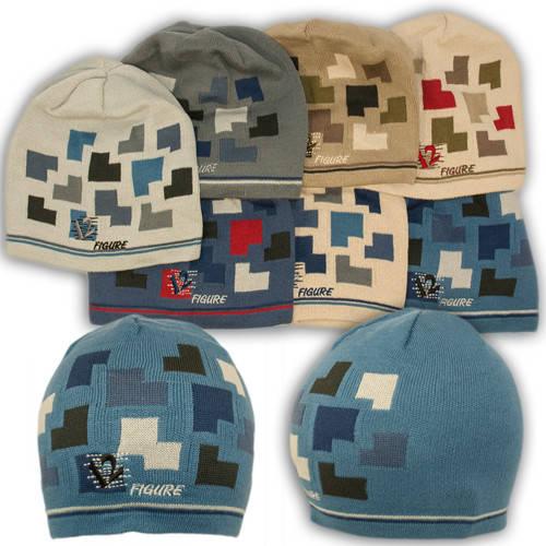 Вязаная шапка с нашивкой, для мальчика, CH01