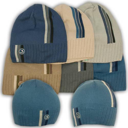 Вязаная шапка с нашивкой, для мальчика, CH13