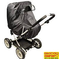 Универсальный дождевик-ветрозащита на коляску-люльку (Kinder Comfort, чёрный)